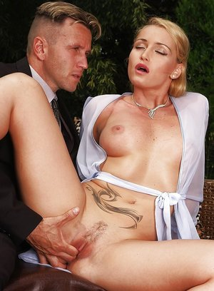 Desirable blonde has some pussy fingering and toying fun with a naughty lad